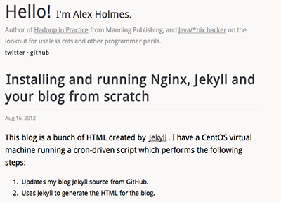 Nginx serving up Jekyll-generated content